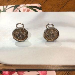 Slane & Slane sterling silver bumblebee earrings.